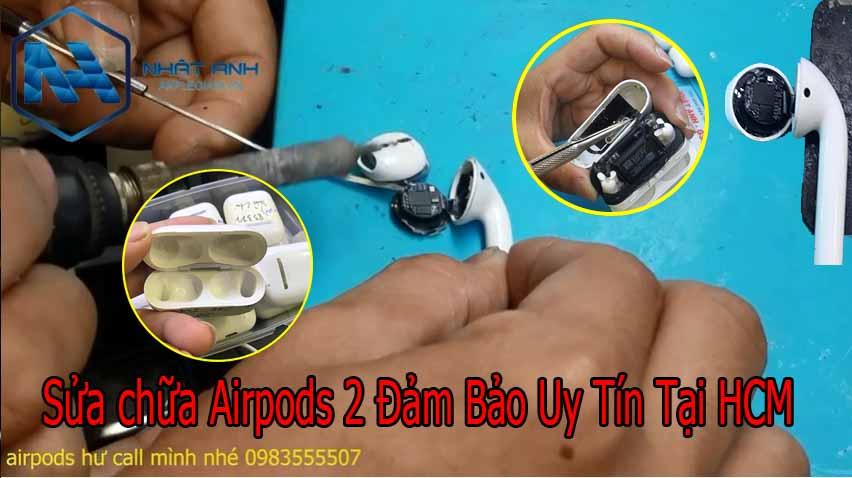 sửa chữa tai nghe airpods 2