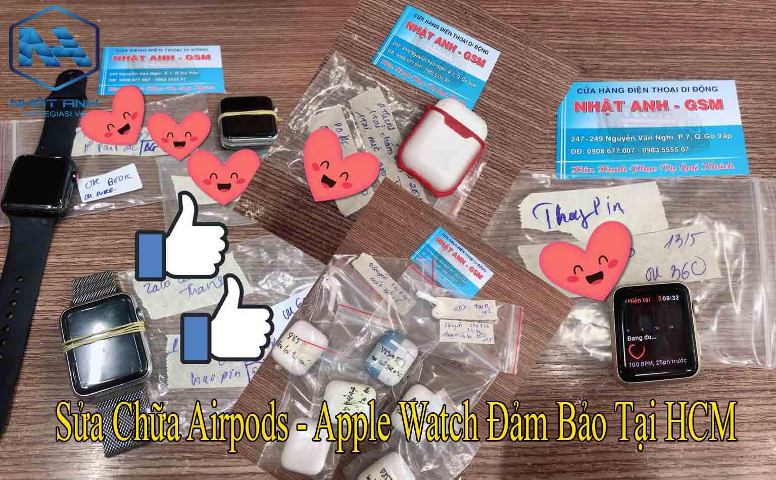 sửa chữa airpods apple watch