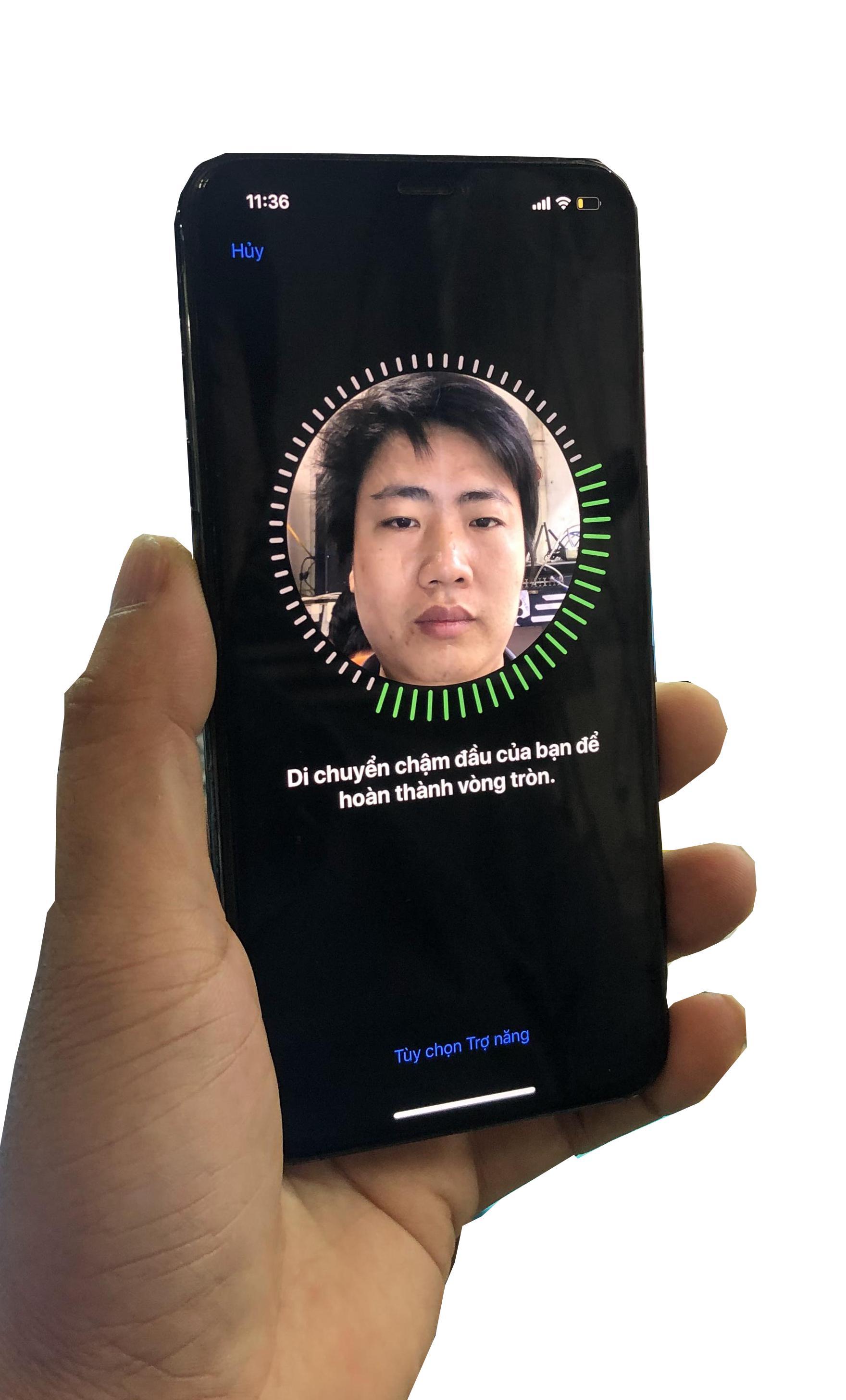 Lỗi Face ID trên iPhone Không Định Vị Được Khuôn Mặt sau khi được sửa chữa tại cửa hàng Nhật Anh GSM