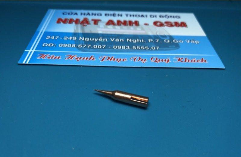 Đầu mũi hàn siêu nhỏ như tip hàn JBC làm bằng đồng đỏ siêu ăn chì