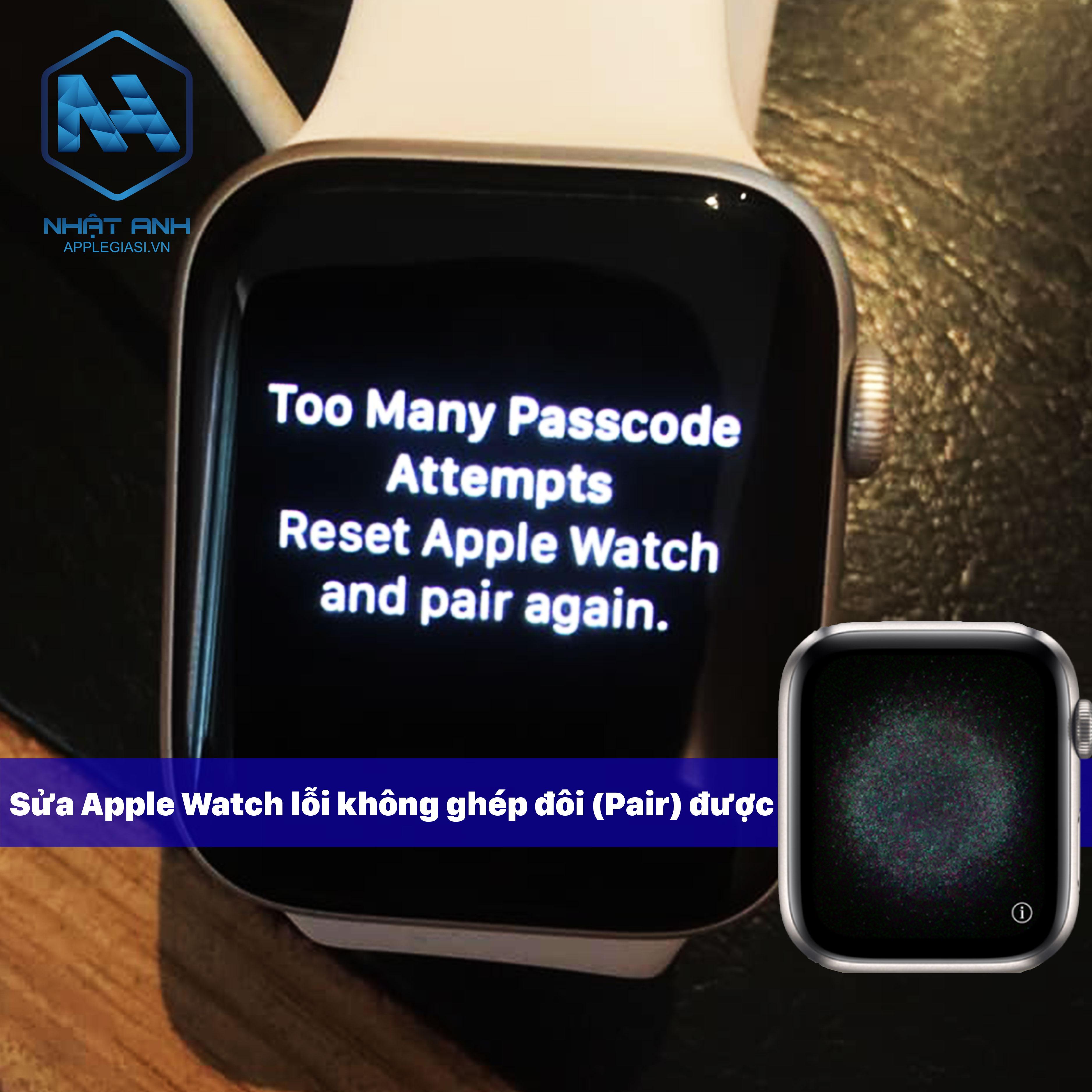 apple watch lỗi chấm than